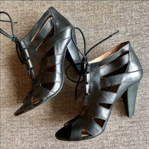 BCBGeneration Lace-Up Caged Heels